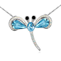 2015 Trendy Pendant Dragonfly Crystal Necklaces With Crystals From SWAROVSKI For Valentine S Day Gift