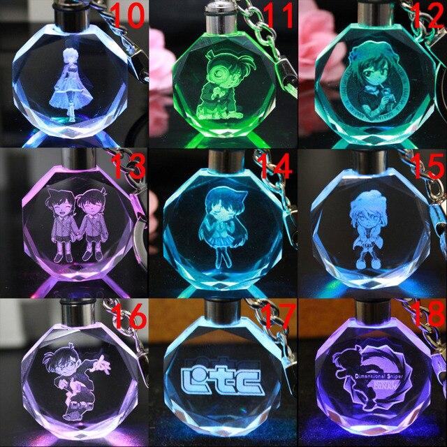 Аниме брелок светодиодный кристалл Детектив Конан в ассортименте 1
