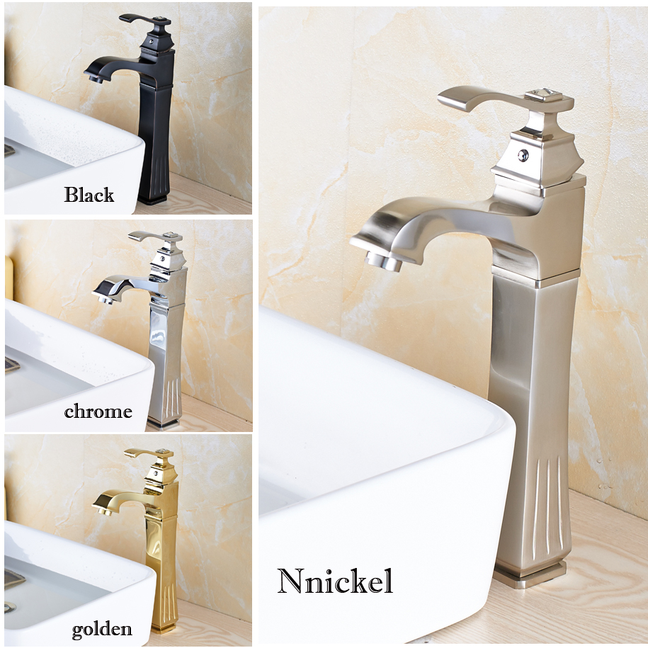 4-Colors Deck Mounted Countertop Basin Sink Faucet Bathroom Lavatory Sink Washing Basin Mixer Taps Single Handle hole wall mounted bathroom mixer taps free shipping hot and cold washing basin water sink faucet two hole one handle