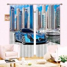 New Cartoon 3D Blackout font b Curtains b font Luxury sports Car Pattern Fabric Children Bedroom