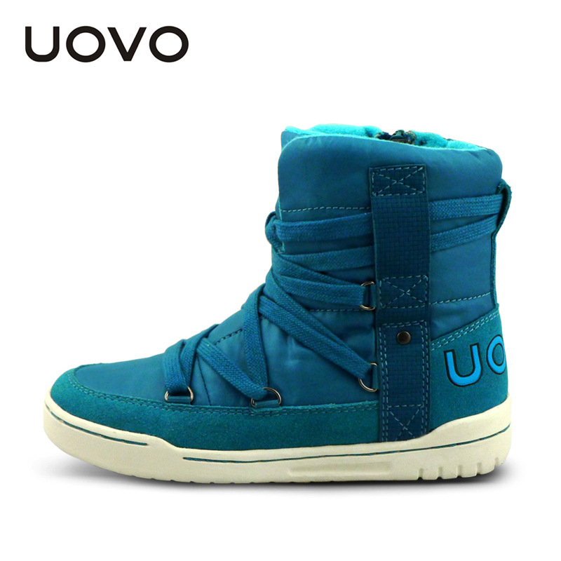 UOVO 2017 New Winter Umbrella Fabric Kids Boots For Boys,Warm Girls Boots,Cotton Children Shoes For Girls Christmas,Size 28-41 uovo christmas winter warm children medium knitted wool snow boots for kids girls cow suede cotton boots shoes for 4 10t ccs027