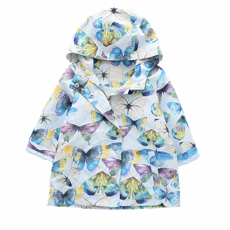 autumn baby jacket for girl jackets kids coat outerwear hooded butterfly hooded children clothes outfit