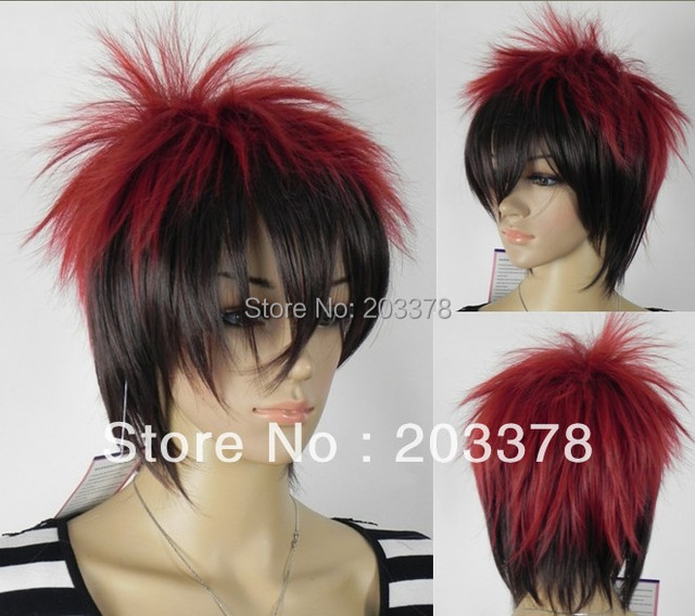 Us 121 0 Red And Black Short Hair Online Game Cosplay Wigs Free Shipping More Style For You Choose On Aliexpress Com Alibaba Group