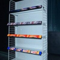 RGB полки Крытый светодиодные табло HD P1.25 удара полки реклама светодиодный экран для супермаркет