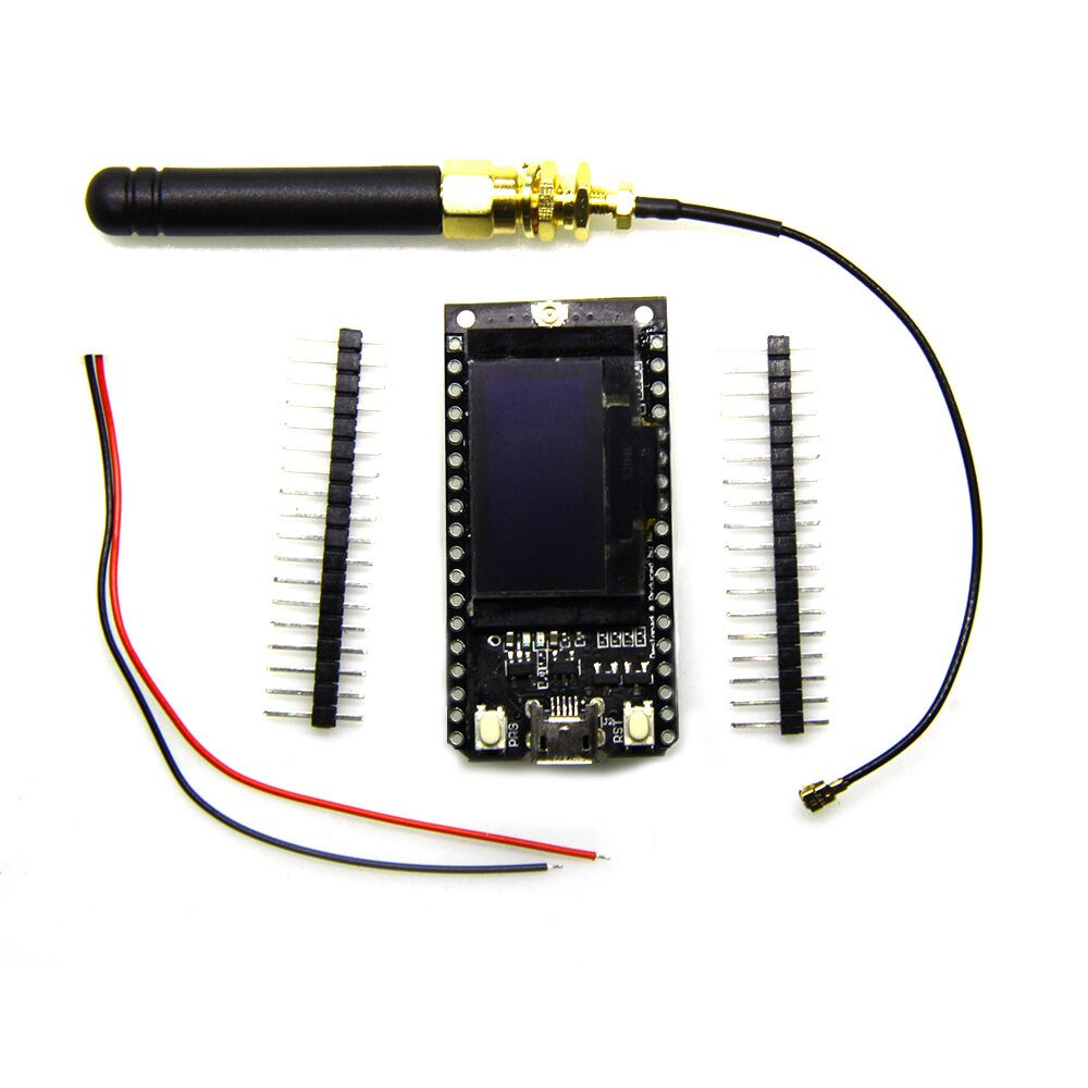 TTGO LORA32 868/915Mhz <font><b>ESP32</b></font> <font><b>LoRa</b></font> <font><b>OLED</b></font> 0.96 Inch Display Bluetooth WIFI <font><b>ESP32</b></font> ESP-32 Module with Antenna image