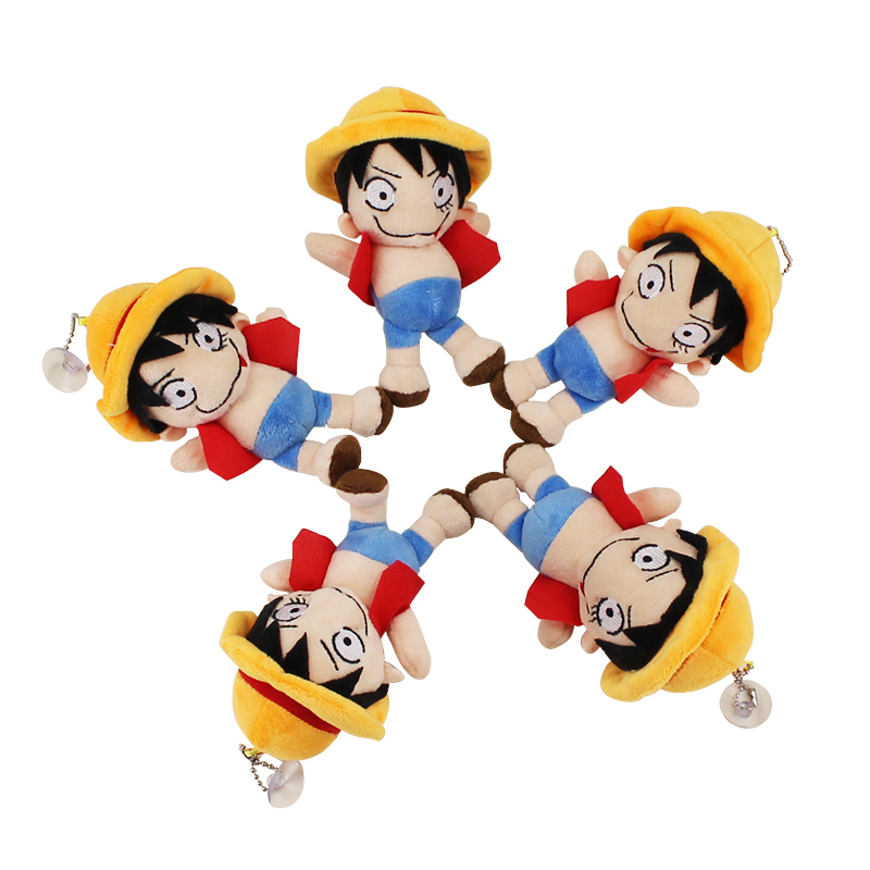 Us 7 92 20 Off 5pcs Set Kawaii One Piece Monkey D Luffy Plush Toys Soft Pleuche Anime Doll Baby Kids Gift With Sucker In Movies Tv From Toys