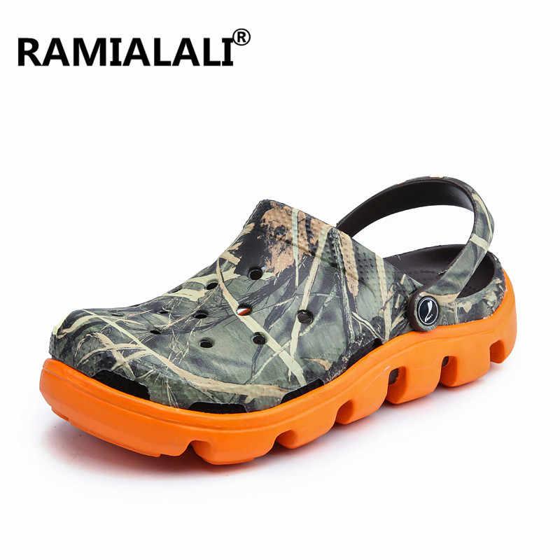 f5b1f86338ab Men Sandals Comfortable Mens Beach Sandals Memory Foam Soft Clogs Casual  Garden Shoes for Men Slip