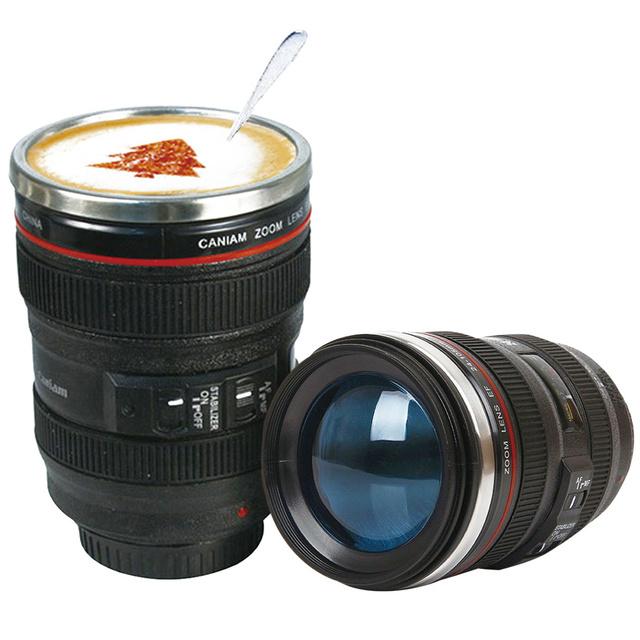 Camera Lens Shaped Stainless Steel Mug