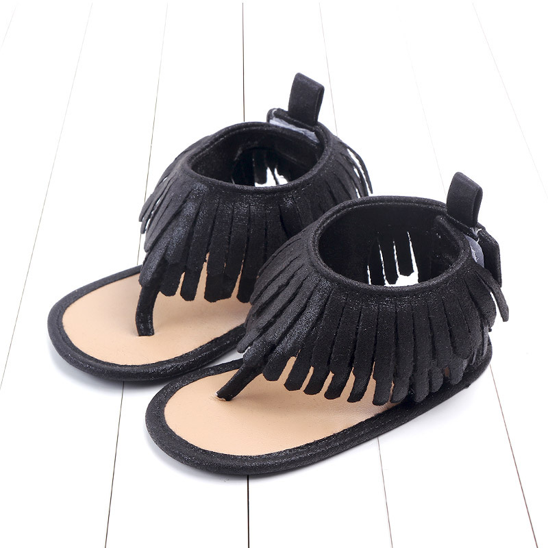 Baby comfortable sandals 2018 summer new boy girls beach shoes kids casual sandals children fashion Baby Girl Tassel Sandals (14)