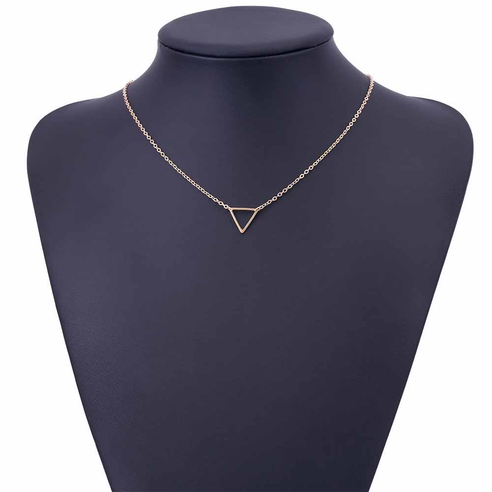 Charm necklace metal triangle Pendant Necklaces ladies gift 4