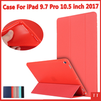 Case For iPad Pro 10.5 inch 2017,Soft silicone bottom+PU Leather Smart Cover Auto Sleep For New 2017 apple ipad pro 10.5