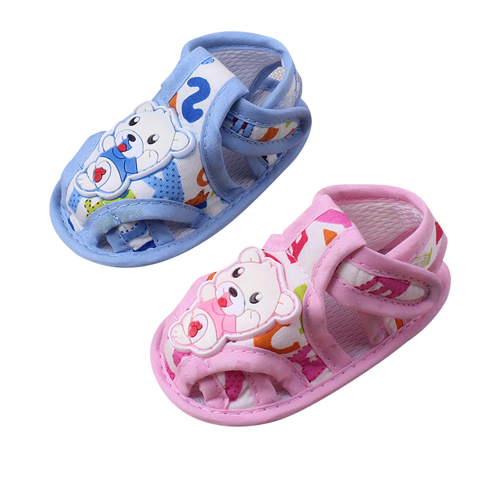 0-18 months Summer Baby Girl Boy Soft Sole Cartoon Anti-slip Casual Shoes Toddler Sandals Great gift to baby p# dropship