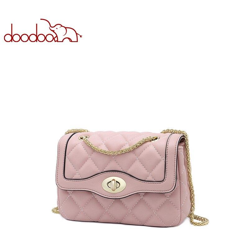 Doodoo Bags Handbags Women Famous Brands Rhombus Small Square Bags For Woman Pu Leather Shoulder Bags 2018 New Bolsas Feminina цена