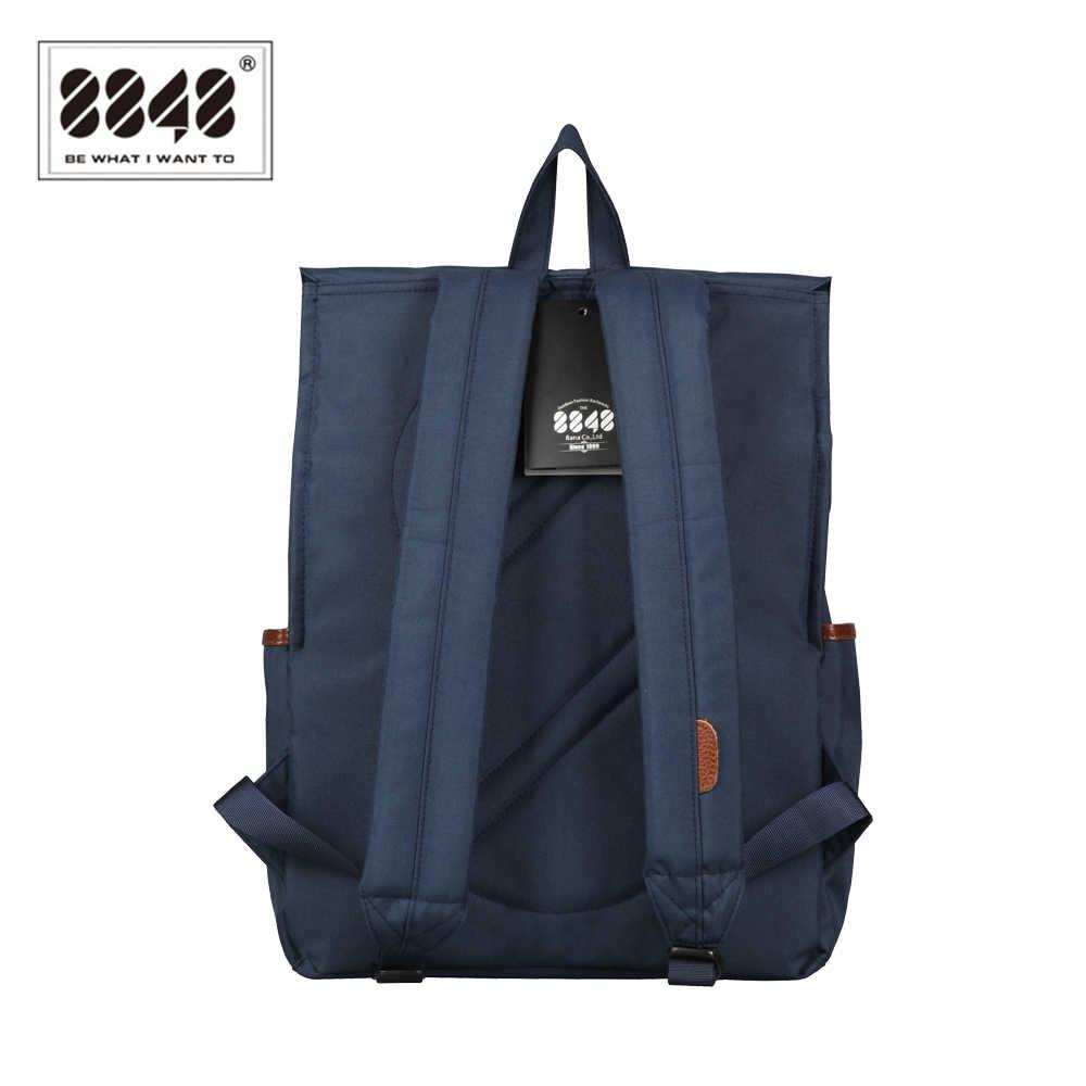 8848 Fashion Women Canvas Backpack Blue Waterproof Schoolbags 15.6 inch Laptop Rucksack Teenager School Bagpack Mochila D002-1