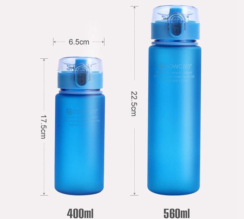 NEW Water Bottle Plastic 800ML 1000ML Drink Outdoor Sport School Leak Proof