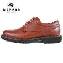 MAREDO men casual shoes formal genuine leather Breathable shoes social dress shoes