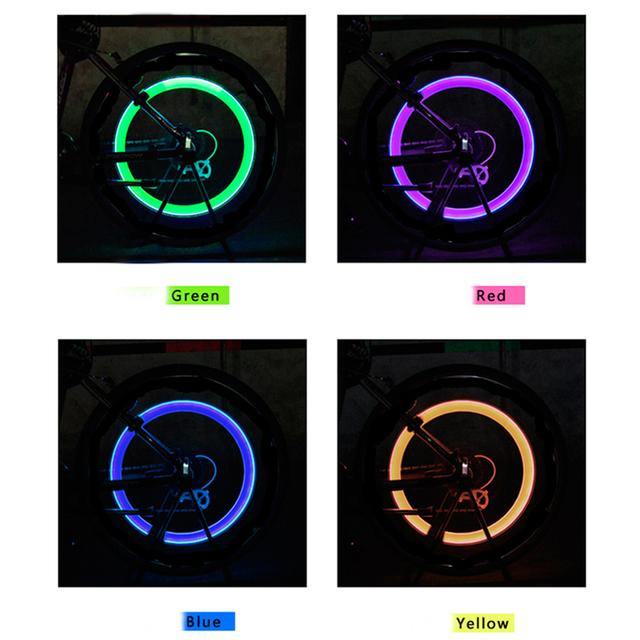 Zacro Bike Light z baterii opony zawór CAPS Wheel szprychy LED światło Bike Lights Mountain Road Bike rower Lights tanie i dobre opinie Nakrętki zaworów opon CCC ISO9001 Z Zacro ZHA0014