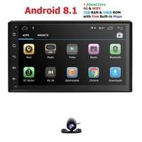 Android8.1Universal Autoradio Bluetooth GPS Car Multimedia Player Car Radio 2din 7HD TouchScreen AUX IN MP3/FM/USB BackupCamera