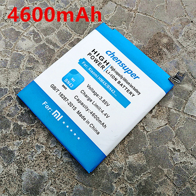 2018 New Arrivals 4600mAh BN43 Battery for Xiaomi Redmi Note 4X Battery 4 X 5.5 inch Phone Batteries