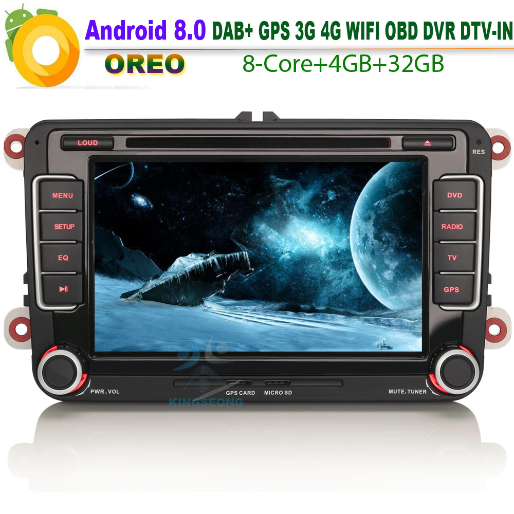 Car CD player for VW Beetle DAB+ Android 8.0 Autoradio Car Stereo WiFi 4G GPS Radio RDS BT DVD DTV-IN USB SD DVR OBD Bluetooth