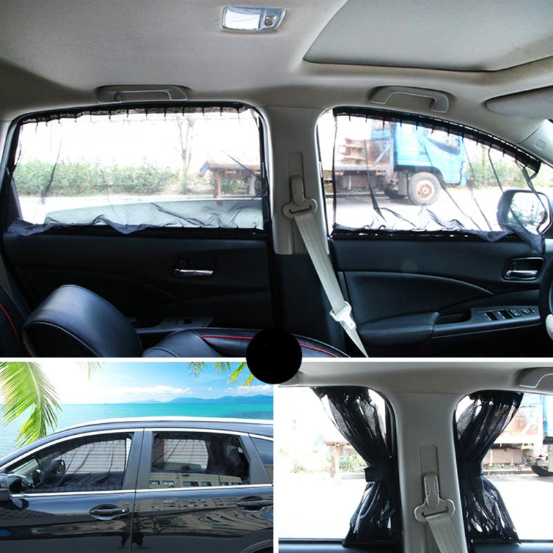 2pcs/set Elastic Car Side Window Sunshade Curtains Auto Windows Curtain Sun Visor Blinds Cover car-styling