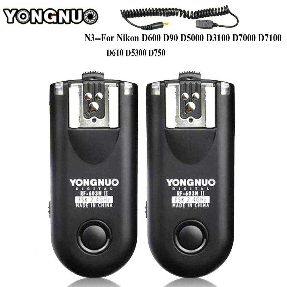 YONGNUO RF-603 II N3 Radio Disparador remoto inalámbrico para Nikon D90 D5000 D5100 D7000 D3100 D600 D610 D7200 D5300 d5200