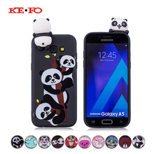 KEFO Squishy Phone Cases For Samsung Galaxy A3 A5 A7 2017 3D Animal Candy Color Case Soft TPU Cover For Samsung Galaxy A5 2018