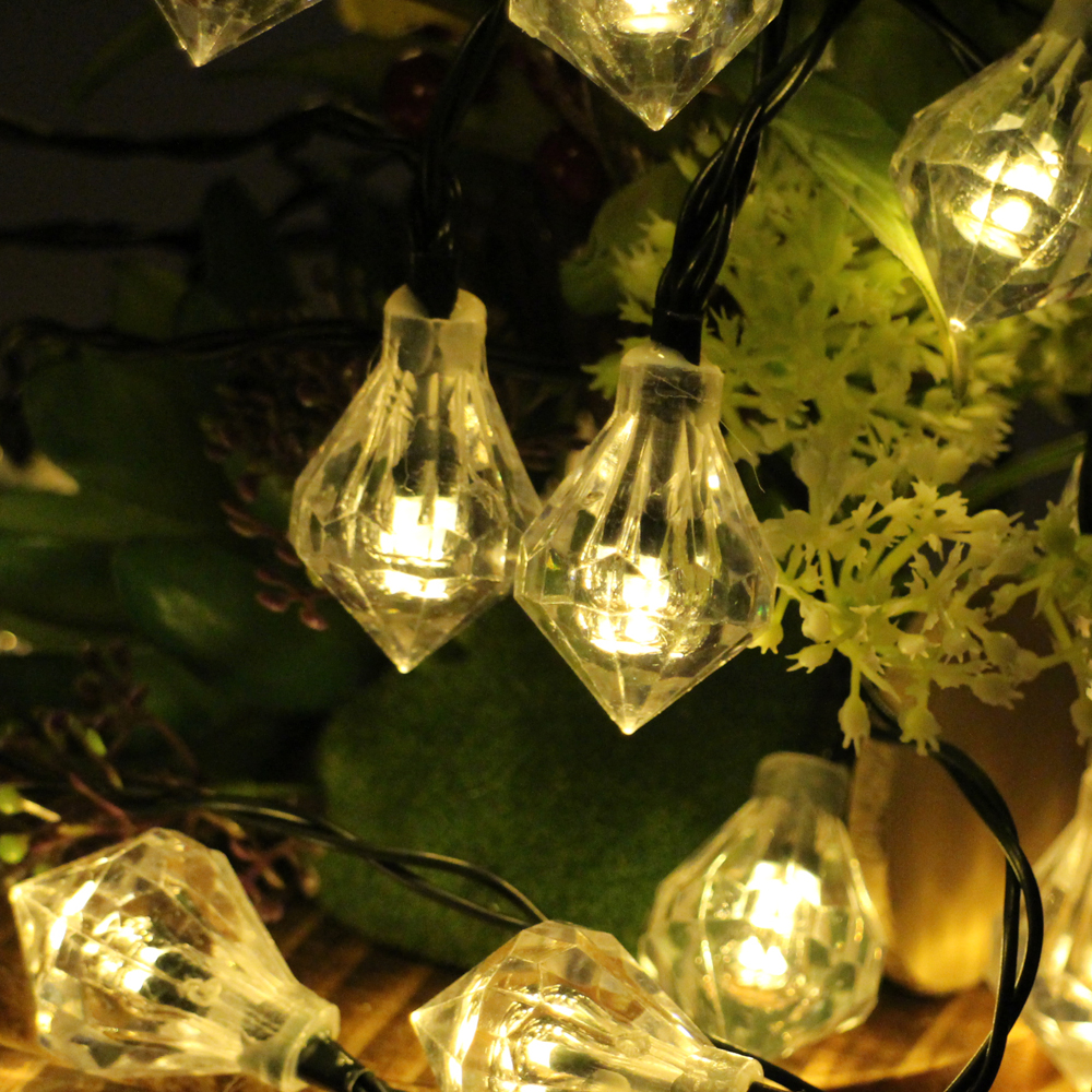 30LED 6M Waterproof Decorative Diamond LED String Lights Outdoor Garden Patio  Lantern Indoor Party Decoration Lightings
