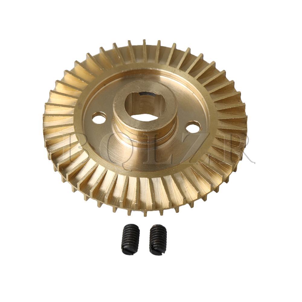 Clever Bqlzr 6,5mm Dicke 60mm Od 41 Zähne Messing Wasser Pumpe Ersatz Teil Laufrad Rad Doppel Seite Mit Nut Goldene Home