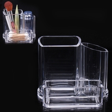 Clear Acrylic Makeup Cosmetic Organizer Lipstick Brush Display Holder Stand for make up tools Beauty Women 2016
