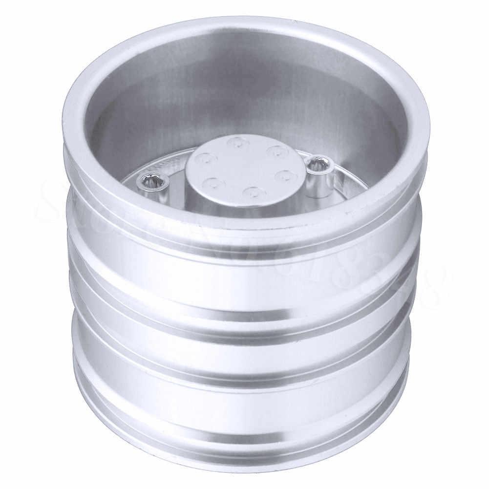 2 Pcs Aluminium Roda Velg untuk Tembaga Hellenic 1/14 RC Tractor Trailer Ban