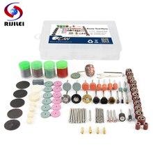 RIJILEI 161PCS BIT SET SUIT MINI DRILL ROTARY TOOL & For Proxxon DREMEL Grinding,Carving,Polishing tool sets,grinder head