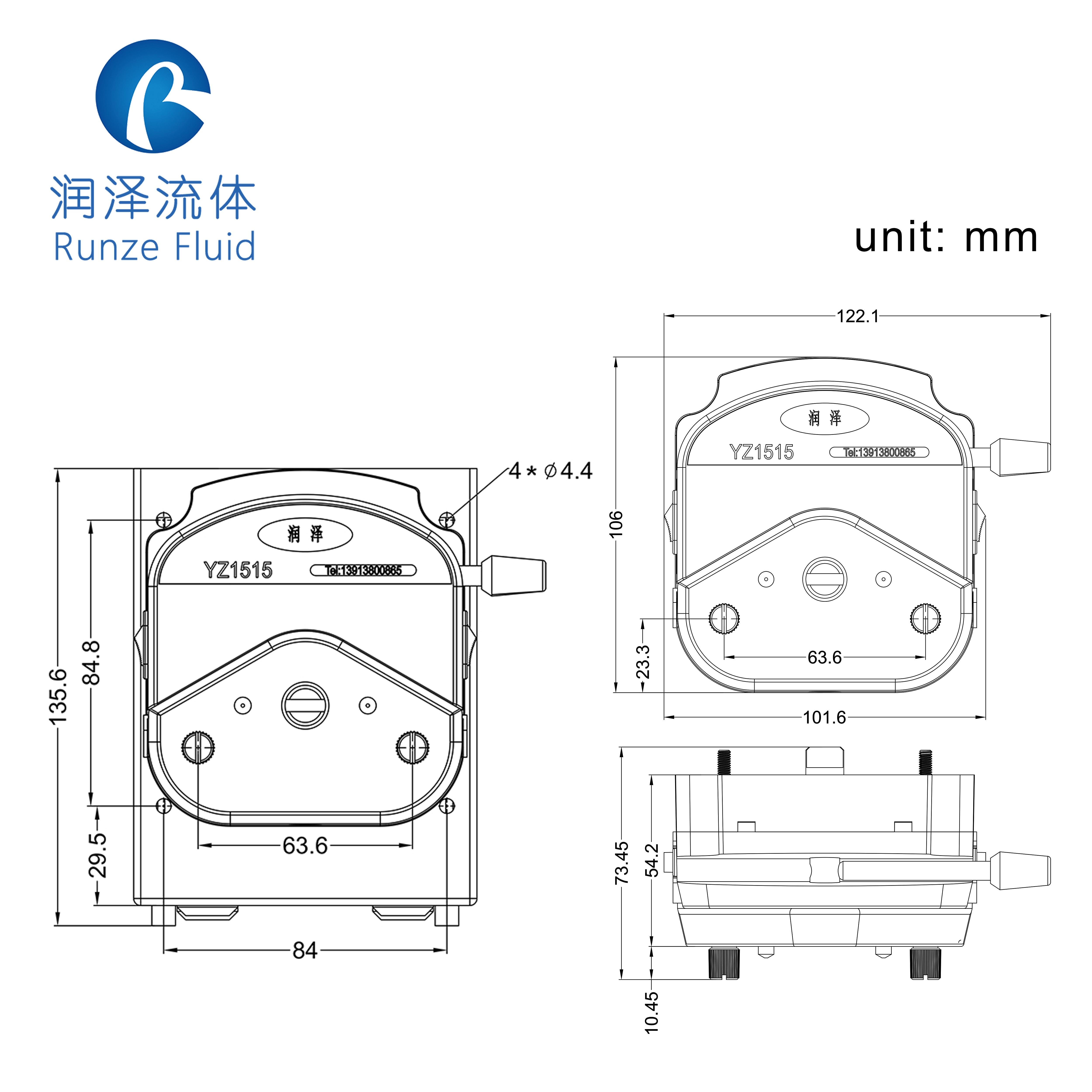 Facile da Sostituire Il Tubo In Silicone Testa Della Pompa Dosatrice ABS Fabbrica Della Cina - 5