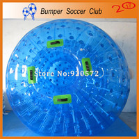 Factory Customize! Free shipping! Dia 3M Exciting Down Hill Zorb Balls Inflatable Land Zorbing Ball Blue Inflatable Zorb Ball