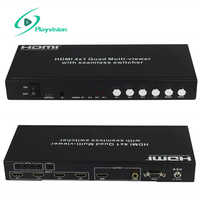 HDMI 4x1 Quad Multi-Viewer With Seamless Switcher and Extended 50m Support HDMI 1.3 HDCP 1.2 PIP IR RS232