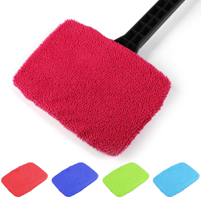 Funcation Portable cleaning brush car window cleaning Cloth Windshield Easy Cleaning without handle Clean Cloth Random Color