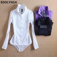 New Arrivals Women Body Blouse Shirt White Long Sleeve Blusas Elegant Tops Female Tunic Blouses Feminina