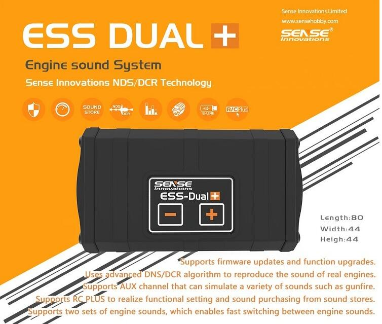 Sense Innovations ESS DUAL 2 SPEAKERS Engine Sound Simulator For RC Car Axial SCX10 II WRAITH