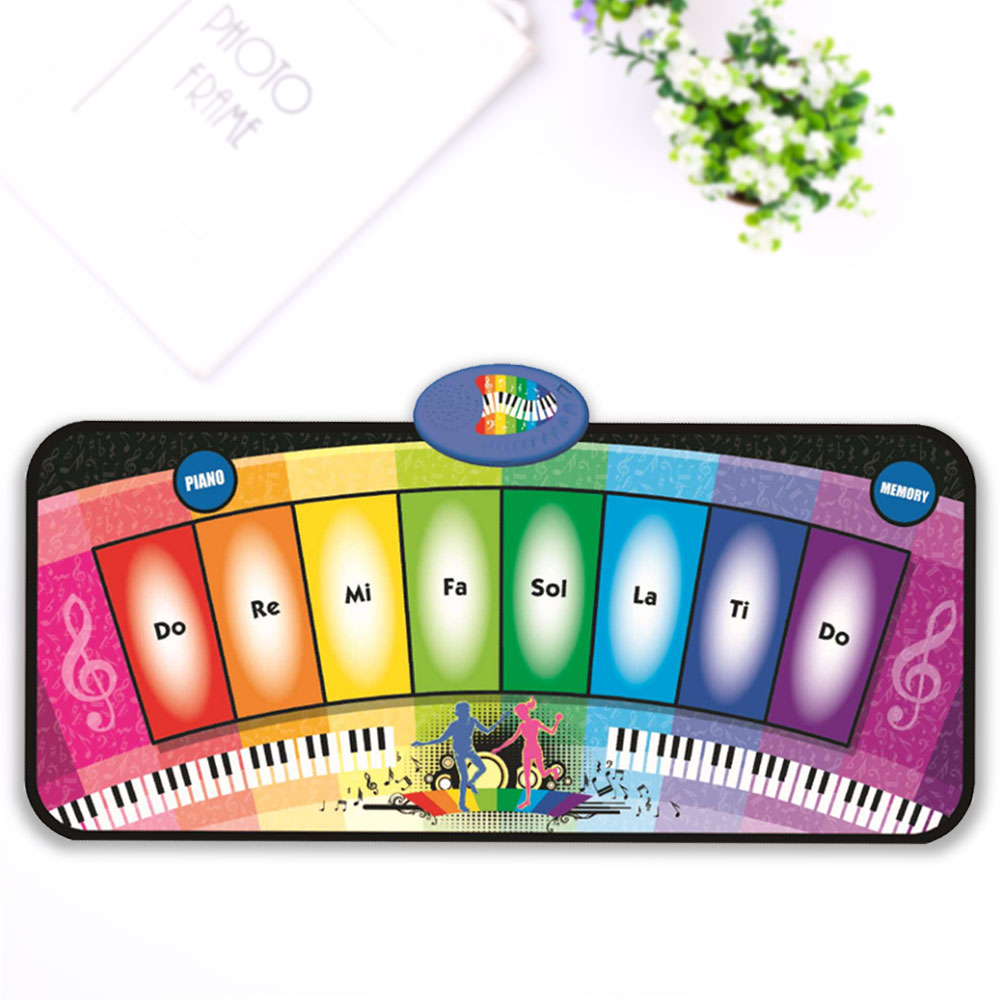 Baby Music Mat Carpet Rainbow Piano Kids Educational Crawling Blanket Rug Toys