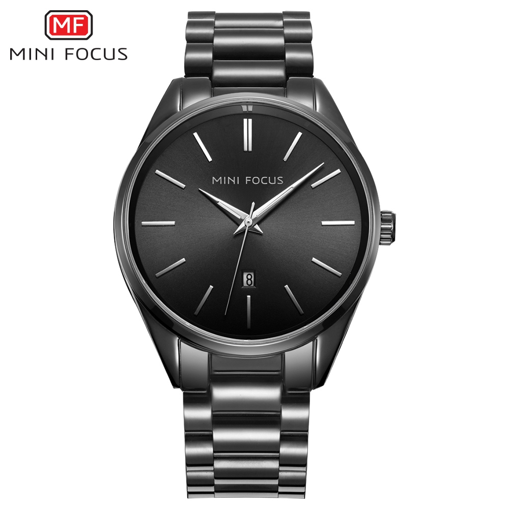 MINIFOCUS Mens Watches Top Brand Luxury Military Quartz Watch Steel Men Sports Watches Waterproof Wristwatches Relogio Masculino mce top brand mens watches automatic men watch luxury stainless steel wristwatches male clock montre with box 335