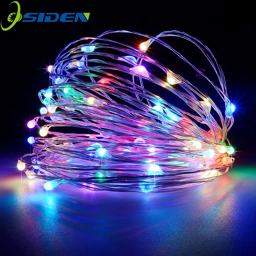 led string light 2-10M 20-100led supply outdoor Fairy licht warm wit 5V USB zilverlijn Kerstvakantie bruiloft decoratie