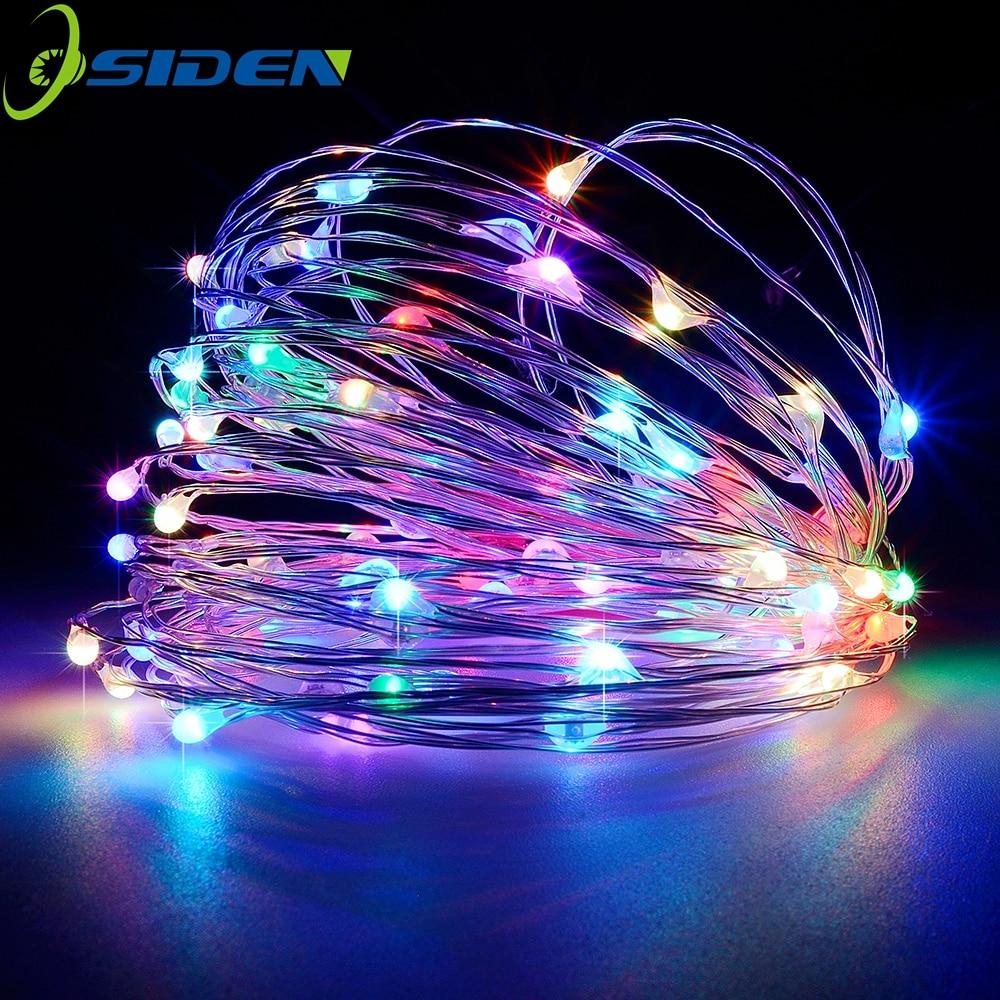 Led String Light 2-10M 20-100led Supply Outdoor Fairy Light Warm White 5V USB Silver Line Christmas Holiday Wedding Decoration