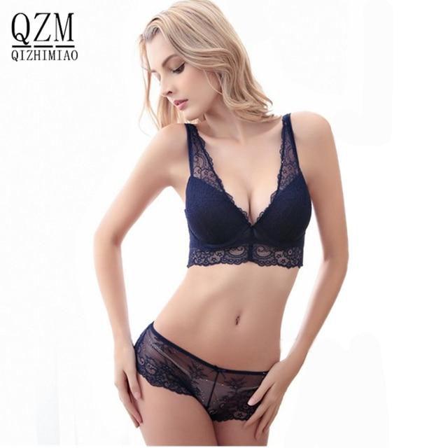 b2aebb3cd84 Hot Sale Fashion Sexy Bra Set lingerie victoria women's lace sexy underwear  pack abdominal curl cheeky panty bra Clothing set