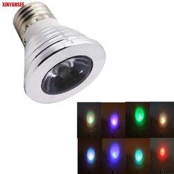 E27 RGB Светодиодный прожектор 3 Вт Светодиодная лампа GU10 светодиодная RGB лампа высокой мощности 16 цветов для украшения дома пульт дистанционн...