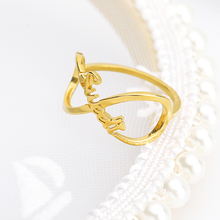 Infinite Rings For Woman Personalized Gold Name Custom stainless steel jewelry accessories Wedding band