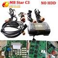 Melhor Qualidade MB Estrela C3 Ferramenta de Diagnóstico Profissional para o Merc-edes-Ben z All New Relé sem HDD DHL TRANSPORTE Rápido