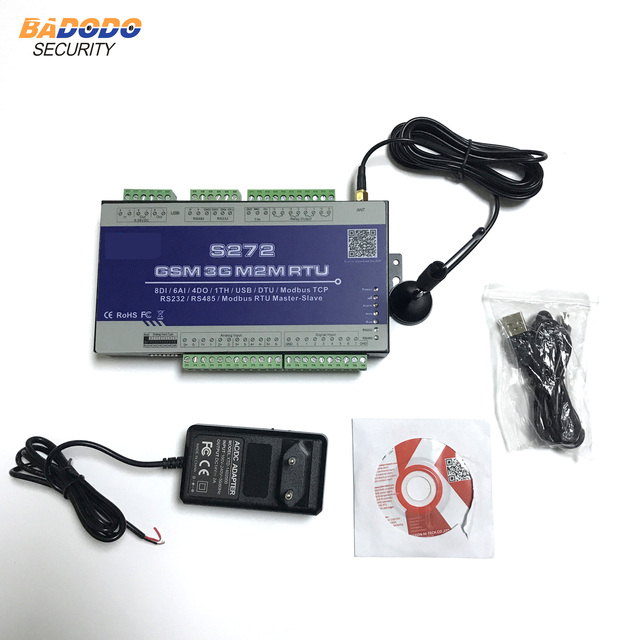2G 3G 4G LTE Cellular Modbus RTU Supports AC Power failure/Recovery Alarm Data transparent transmission S272