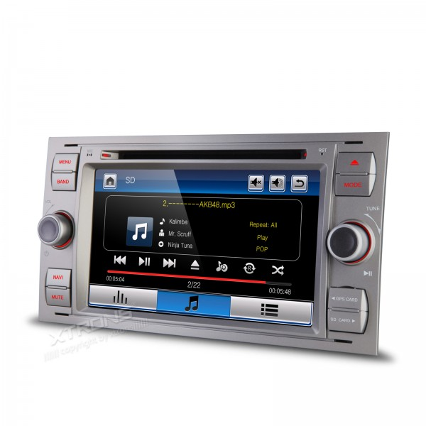 7 Gray Color Special Car DVD for Ford Galaxy 2005-2007 & Kuga 2008-2011 & Mondeo 2004-2007 & S-Max 2007-2009 & Focus 2005-2007