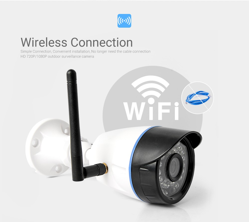 hd 720p wireless ip camera wifi outdoor bullet security. Black Bedroom Furniture Sets. Home Design Ideas