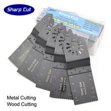 Free Shipping 10pcs 34mm (1-1/3) Bi-metal Oscillating Multi Saw Blades Reciprocating Blade Plunge for Machine